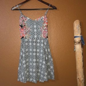 🌻Aeropostale Tribal & Floral Fit & Flare Dress